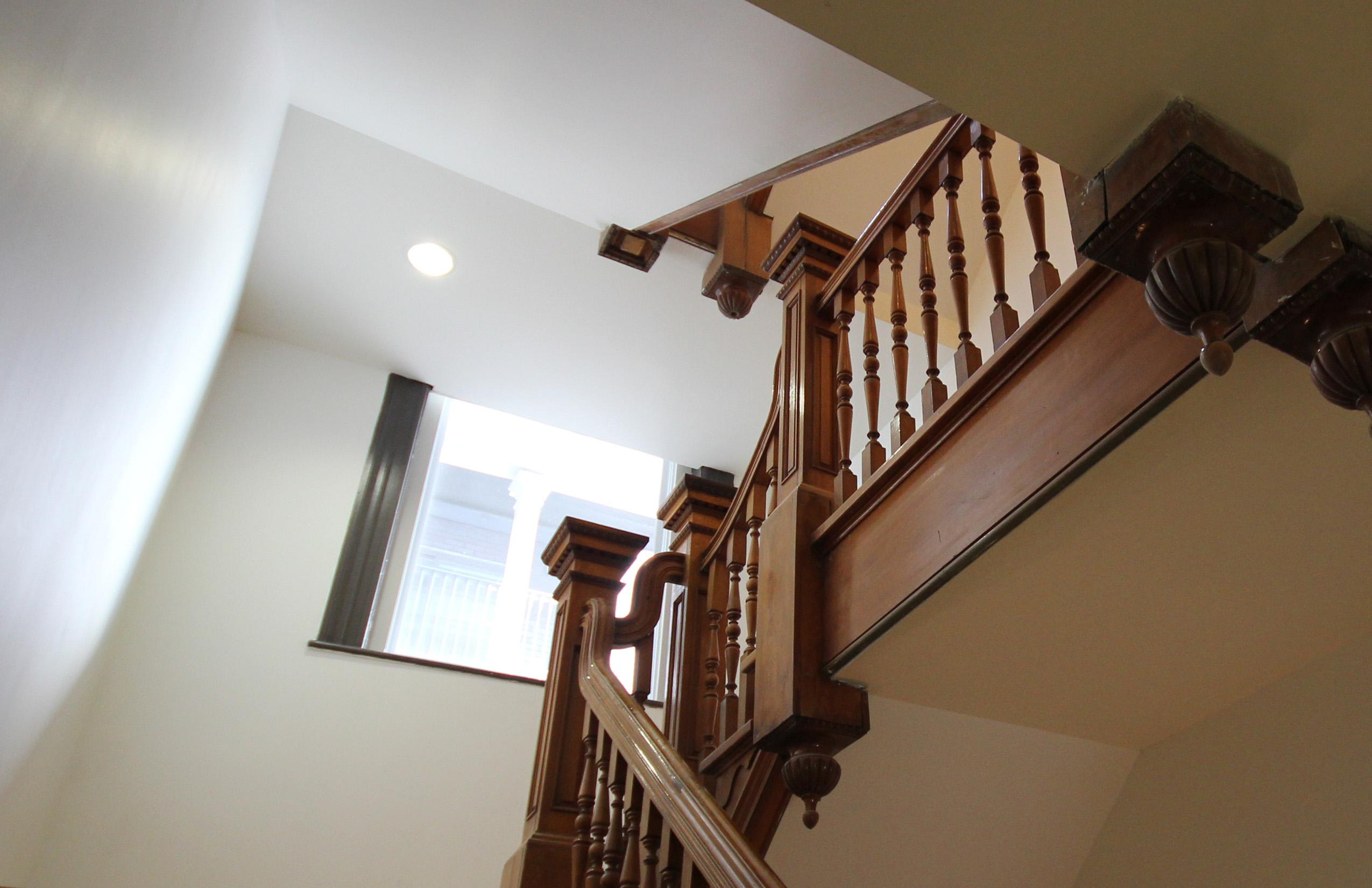 Restauration de l'escalier en chêne