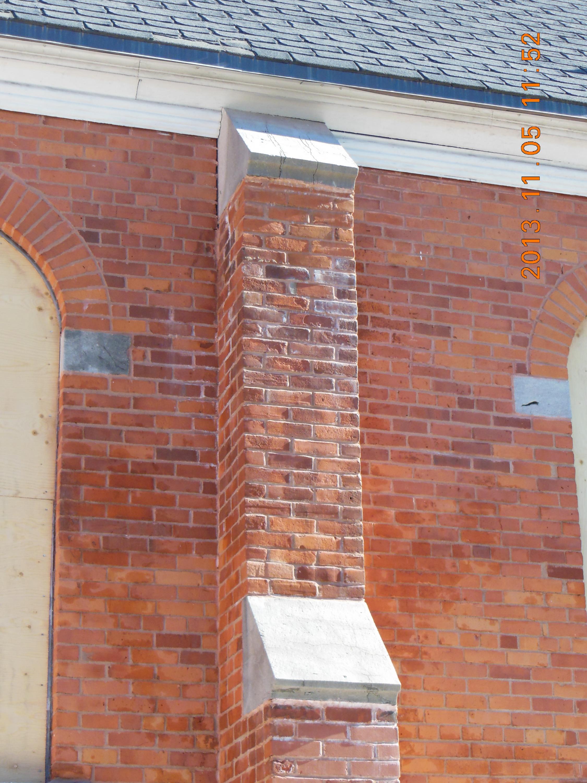 Pilastre de brique