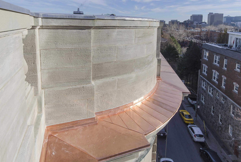Édifice Gaston-Miron - détail de toiture